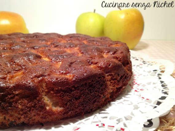 torta di castagne e mele senza nichel
