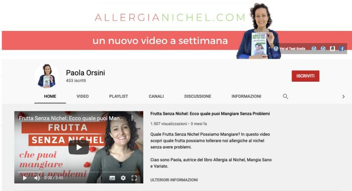 canale youtube di Paola